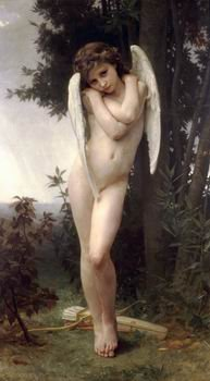 Bouguereau Canvas Art - 12X16 inch W. Bouguereau Canvas Art RePro Lamour Mouille/CuPidon