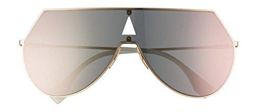 db2c22bdfb3b Amazon.com  New Fendi EYELINE FF 0193 S rose gold rose gold mirror 000 0  Sunglasses  Clothing