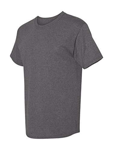 (Hanes 5280 5.2 oz. ComfortSoft Cotton T-Shirt Charcoal Heather)