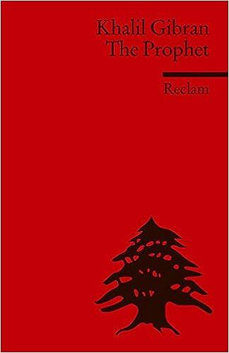 The Prophet Fremdsprachentexte Reclams Universal Bibliothek