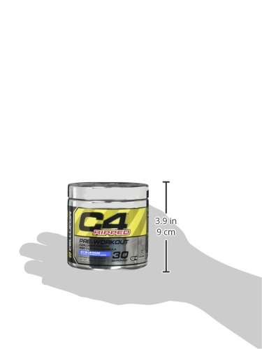 Cellucor C4 Ripped Pre-workout Icy Blue Razz Dietary Supplement, NET WT. 180g, 6.34 Oz 30 Serving