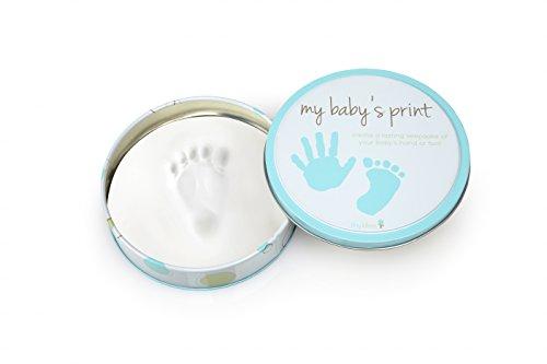 Blue Footprints Italian - Tiny Ideas Easy to Use Handprint Tin, Blue
