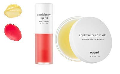 NOONI Applebutter Lip Mask and Appleberry Lip Oil Duo Set, Moisturizing, lip care, Softening formula, Mineral oil free, Day&Night protect lip care, Rich lip balm, Lip primer, Lip scrub by NOONI (Image #3)