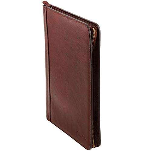 Porte Marron document Cuir Tuscany Rouge Foncé Ottavio En Leather YxtaqE