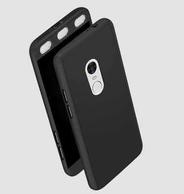 huge selection of 58a51 d794e Nn ent Redmi 4 phone cover Black: Amazon.in: Electronics