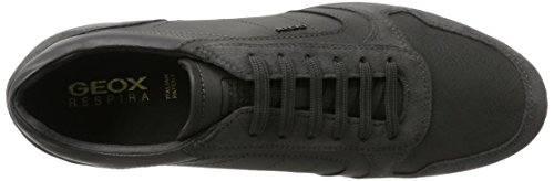 Geox Men's U Avery C Low-Top Sneakers, Black Grey (Dk Grey C9002)