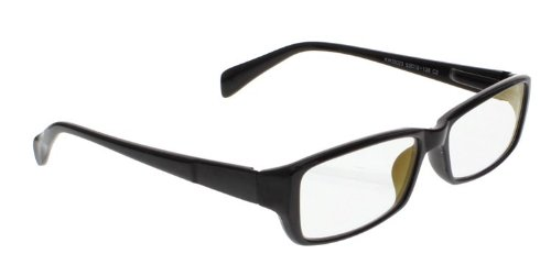 Computer Glasses with Clear Polycarbonate Double Sided Anti-reflective Coating, Scratch Coating and Uv Protection - Plastic Frame - 53-16-140 (Polycarbonate Frame Clear)
