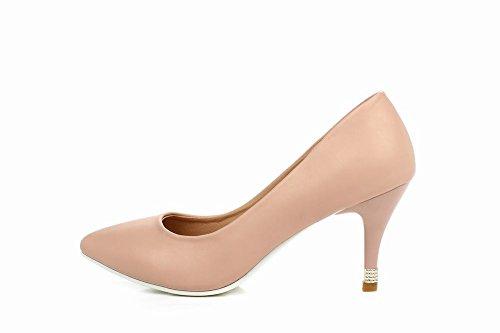 Scarpe Eleganti Da Donna Con Piede Tacco Alto Scarpe A Punta Tacco Alto Rosa