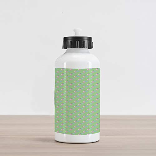 (Ambesonne Baby Aluminum Water Bottle, Child Birth Announcement Celebration Theme Pattern with Birds Carrying Newborn Babies, Aluminum Insulated Spill-Proof Travel Sports Water Bottle, Multicolor)