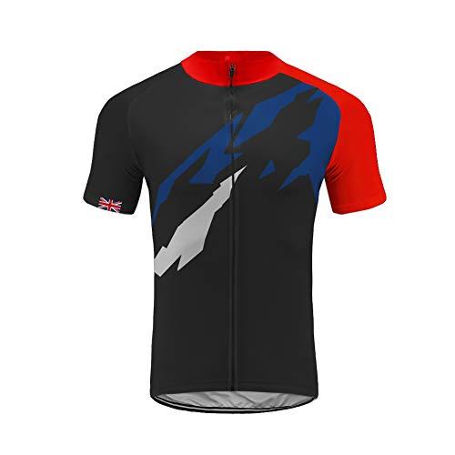 Uglyfrog Cycling Equipment Men's MTB Short Sleeve Cycling Jersey Pro Team Bici Bike Bicycle Breathable Shirts Top Full Zipper HUS19DJT10