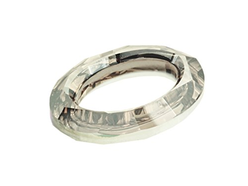 Wholesale Swarovski 4137 Oval Cosmic Rings Factory Pack (24 pcs) Silver Shade ()