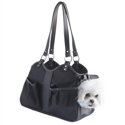 Petote Metro Classic Dog Carrier, Black Sable, Large by Petote by Petote