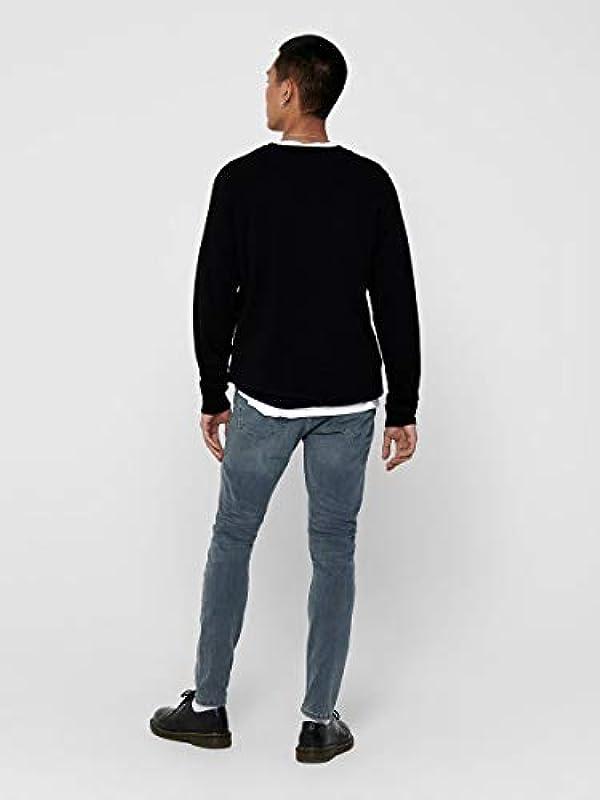 Only & Sons jeansy męskie Skinny Fit ONSWarp Grey: Odzież
