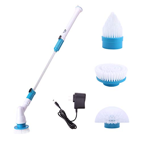 HUYIJJH Power Spin Scrubber Cleaning Brush Automatic 360 Cordless Replaceable Brush Heads Extension images