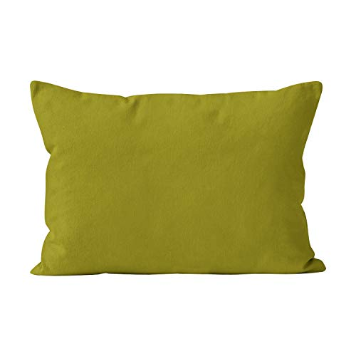 Suike Solid Avocado Green Pop of Color Cute Hidden Zipper Home Decorative Rectangle Throw Pillow Cover Cushion Case Standard 20x26 Inch One Side Design Printed Pillowcase