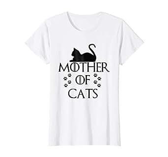 Amazon.com: Womens Madre de gatos 2017 Hot playera, mujer S ...