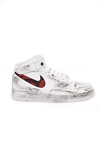 314195113cardif Nike Donna Force1 Bianco Air rosso Sneakers Pvw06q
