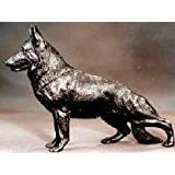 German Shepherd: Cold-cast Bronze Figurine 6.5 Inches Long