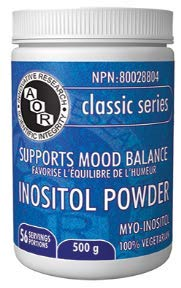 AOR Inositol Powder 500 Grams 56 Servings (2 Pack) by Advanced Orthomolecular Research
