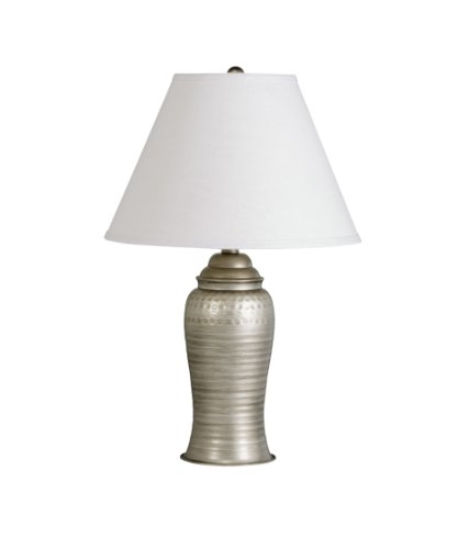 Kichler  70333AP Missoula 1-Light Table Lamp, Antique Pewter Finish with Linen Fabric Hard Back Shade
