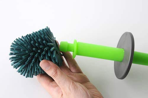 Alessi Aleesi ASG04 O Merdolino Toilet Brush, Orange