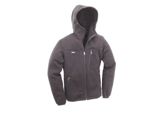 (TAIGA Polartec Power Stretch Pro Hooded Soft-Shell Jacket, Men's. Made in Canada (Size: M, Steel))