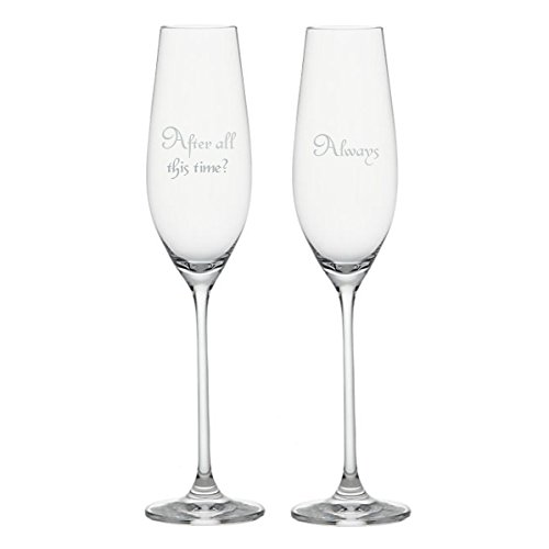 Harry Potter and the Deathly Hallows – After All This Time? { Always } Champagne Flutes