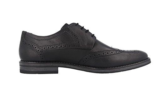 FRETZ men - Zapatos de cordones de Piel para hombre Negro negro