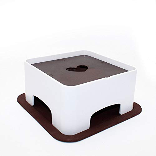 Cat Dog Dish Rack Pet Bowl Container ABS Dog Bowl Shelf Rack Pet Dining Table white