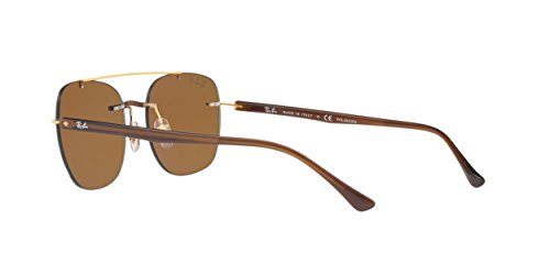 Ray Sunglasses 55mm Ban Polarized Polar Mens Brown Square Brown RB4280 CwBHfCxqr