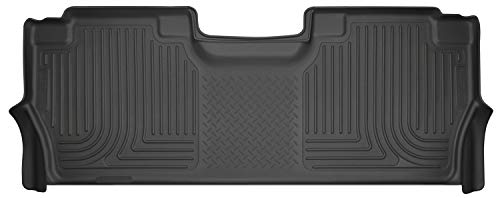 Husky Liners Black Weatherbeater 2nd Seat Floor Liner Fits 2017-19 Ford F-250/F-350/F-450 Crew Cab w/factory carpet (2017 Ford F 350 Crew Cab Configurations)