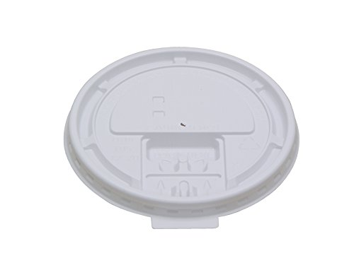 10-20TABLID White Plastic Tear Tab Lid for Paper Hot Cups (10 Packs of 100)