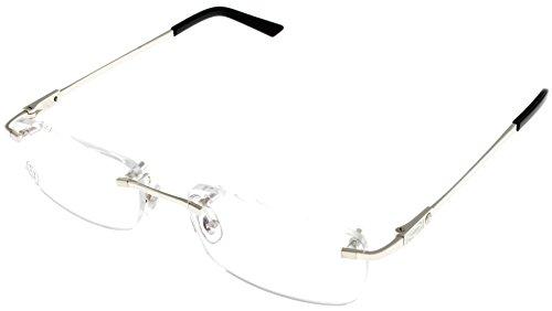 Cartier C Decor Jewel Prescription Eyeglasses Frame T8100971 Rimless - Cartier Eyewear