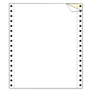 Trim Perforated White Computer Paper - 9