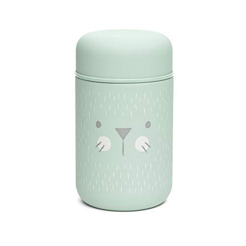 Suavinex - Termo Papillero Para Bebe Acero Inoxidable Cierre Hermetico, 400 ml Color Verde