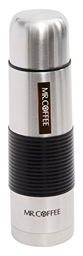(Mr Coffee 91880.03 Javelin 16 oz Stainless Steel Thermal Tumbler with Black Silicone Sleeve)