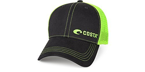 Costa Del Mar Neon Trucker Black/Neon Green New 2017 Hat