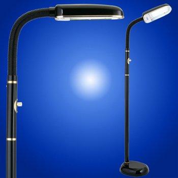 Bluemax 42 Watt Task Floor Lamp, Nickel (Black)
