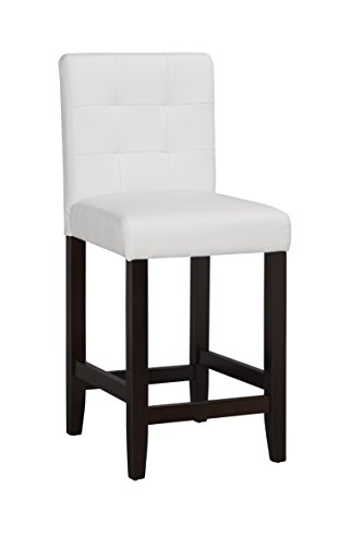 Boraam 82224 Lyon Counter Stool 24 Inch White Import
