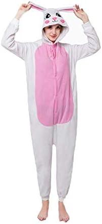 Disfraces para Adultos, Conejo Blanco Pareja Pijama Animal Navidad ...