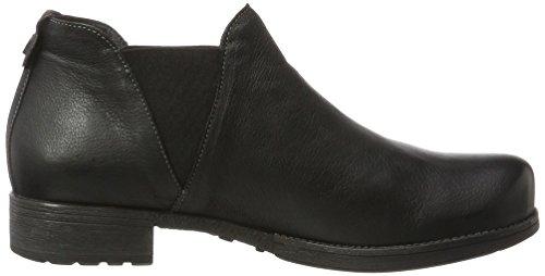 Denken! Dames Denk_181014 Chelsea Boots Zwart (sz / Kombi 09)
