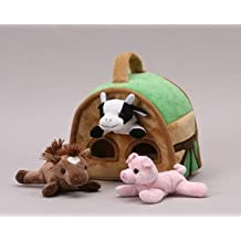 "Farm Finger Puppet Play House 8"" by Unipak"