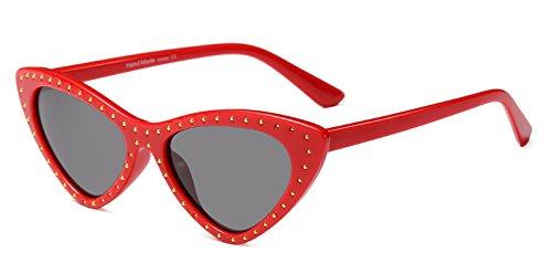 Ojo Foto En De Sol Se Uv400 De Gafas De Rojo Negro Como Remache De La Gato Mujeres Ojo Rojo Blanco Mujeres Gafas TIANLIANG04 Muestra Triángulo Regalo De Gato 4wqIxt4p