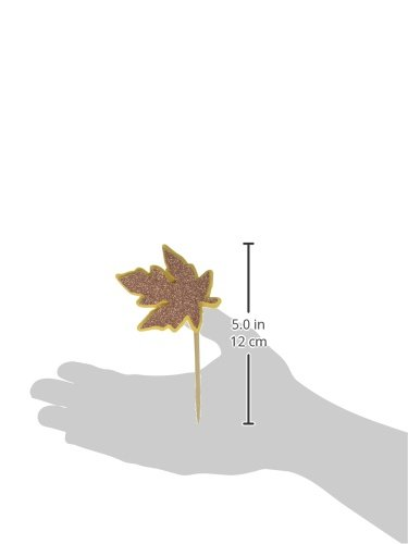 All About Details Copper Fall Leaf Cupcake Toppers 12pcs