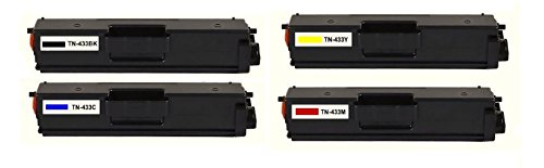 Calitoner Brother Compatible Toner Cartridges Replacement for TN433 Use for Printers HL-L8260,8360CDW-(4 Pack)