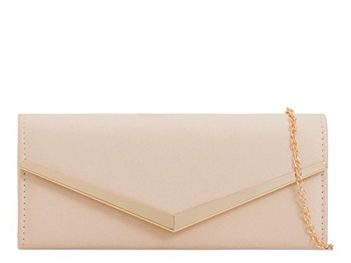 Womens Hand I1 Clutch Party Ladies Flap Suede Foldover Faux Evening Bags Nude Occasion Prom Dressy H1vwH