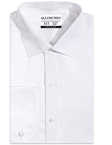 Allure Men Amazing Fitted Spread Collar Swiss Weave Dress Shirt, Formal Shirt, Luxe Microfiber