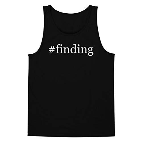 The Town Butler #Finding - A Soft & Comfortable Hashtag Men's Tank Top, Black, Medium -