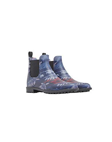 (Joules Women's Rockingham Short Welly Waterproof Rain Boots, Navy, 10 M)