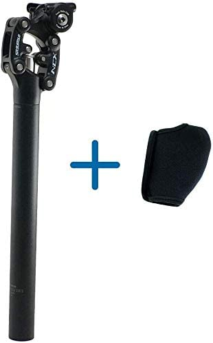 SR SUNTOUR SP12 NCX Suspension Seat Post with Protective Cover 31.6X350mm Black